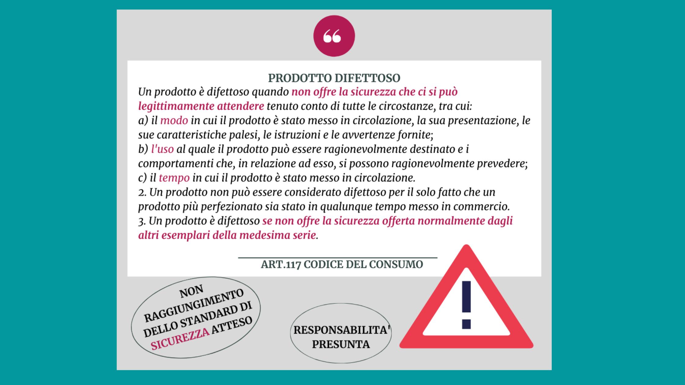La responsabilità del produttore di prodotti difettosi: sicurezza e responsabilità presunta.